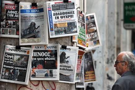 Une majorité de Grecs (55,2%) disent préférer des mesures... (Photo: AFP)