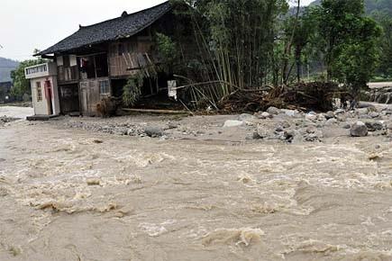 Les autorités chinoises prévoient de nouvelles précipitations dans... (Photo: AFP)