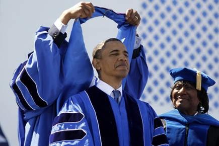 Le président Barack Obama s'exprimait ce dimanche devant... (Photo Reuters)