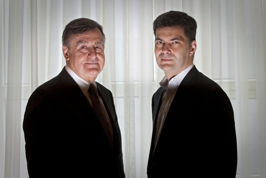 Les ex-politiciens Lucien Bouchard et Mario Dumont.... (PHOTO: IVANOH DEMERS, LA PRESSE)