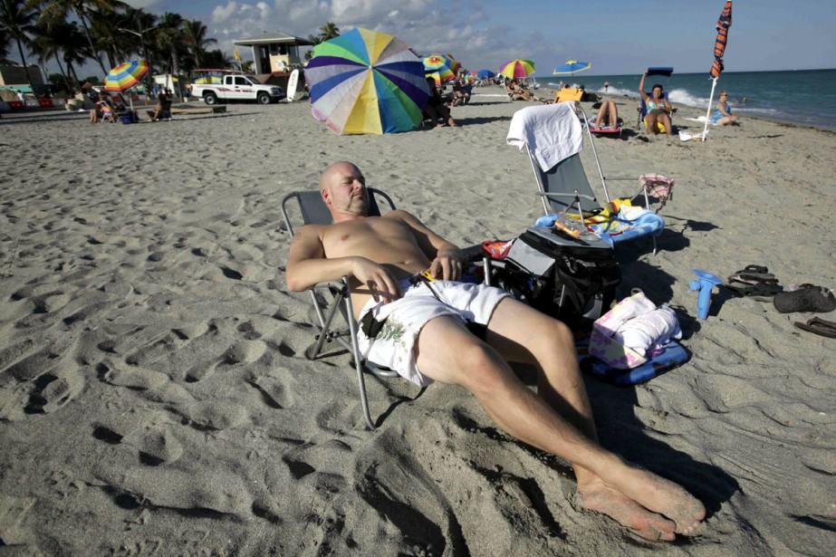 Hollywood Beach est l'épicentre de la communauté québécoise... (Photo: AP)