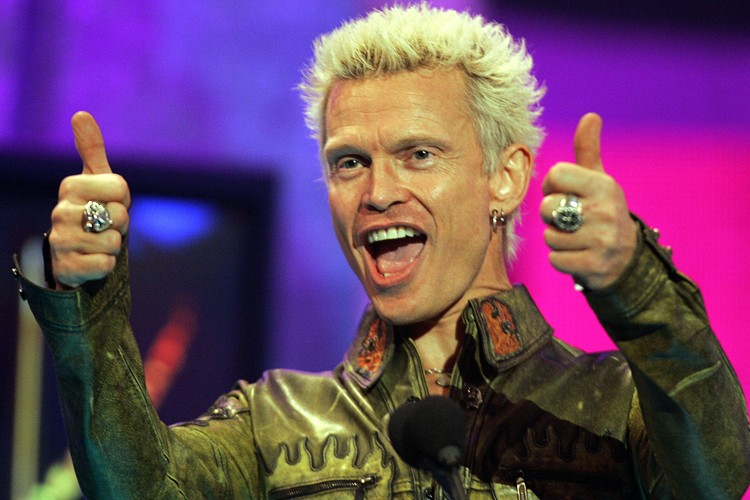 Billy Idol... (Photo: Reuters)