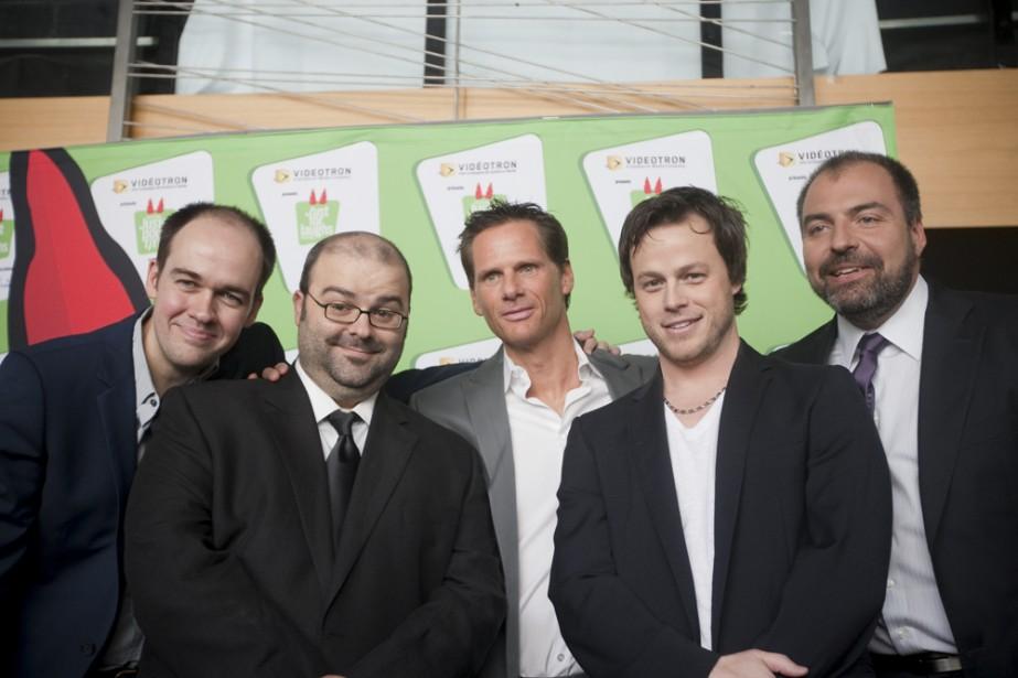 Guy Nantel, Laurent Paquin, François Morency, Louis Morissette... (Photo: Ivanoh Demers, La Presse)