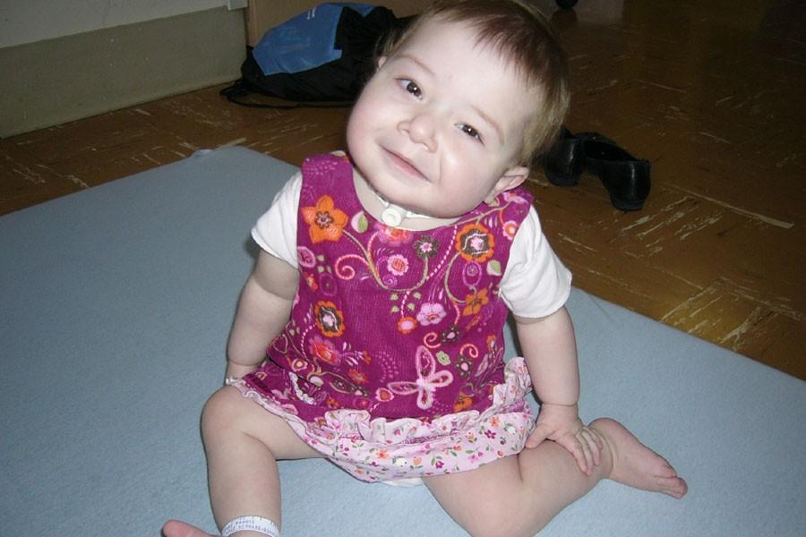 Fannie Dubé, âgée de 13 mois, est hospitalisée... (Photo fournie par la famille)