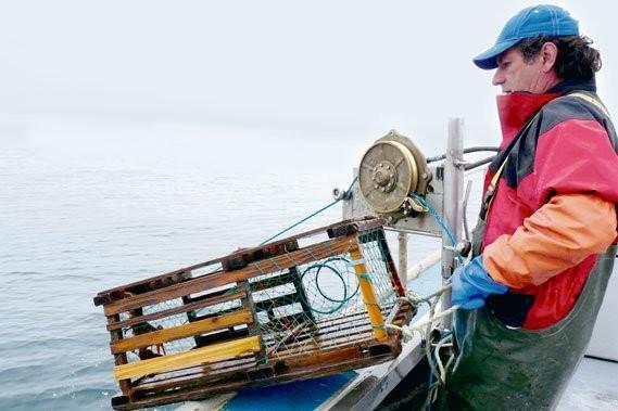 Le pêcheur Sylvain Arsenault a ajouté une corde... (Photo: Anne Pélouas, collaboration spéciale)