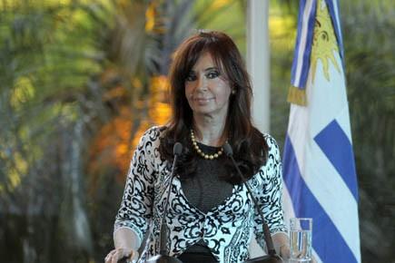 La présidente de l'Argentine Cristina Kirchner. Le pays... (Photo AFP)