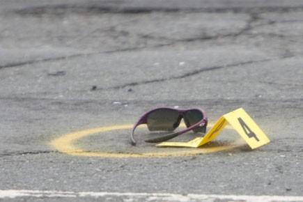 À l'endroit où a eu lieu l'accident tragique... (Photo: Ivanoh Demers, La Presse)