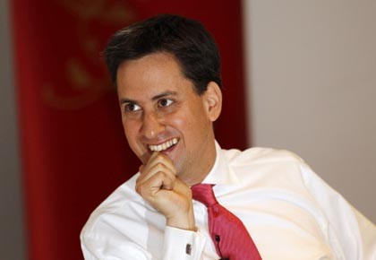 Malgré ses airs de jeune premier, David Miliband... (Photo: Suzanne Plunkett, Reuters)