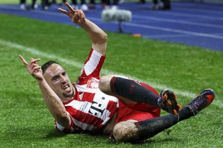 Franck Ribéry, plutôt discret jusque-là, assommait le Werder... (Photo: Reuters)