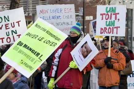 Des «mal-logés» et des sans-abri... (Photo: Robert Skinner, archives La Presse)