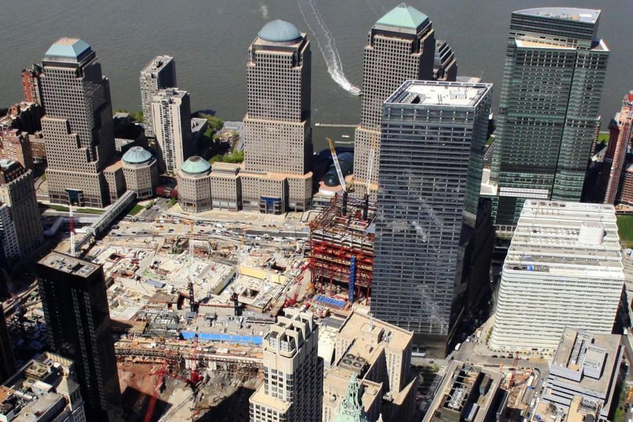 Cette photo aérienne montre, dans le coin inférieur... (Photo: archives AP)