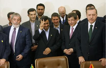 Le président iranien Mahmoud Ahmadinejad a fait un... (Photo: AFP)