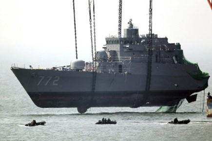 Le Cheonan a coulé le 26 mars après... (Archives AP)