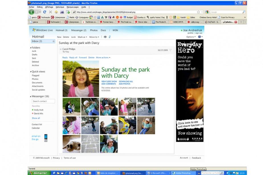 Microsoft a apporté des changements à son populaire service de messagerie par...