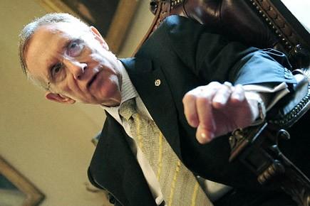 Le chef de la majorité démocrate Harry Reid... (Photo: AFP)