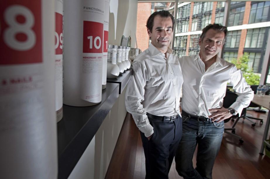Erick Geoffrion et Francis Maheu, fondateurs de l'entreprise... (Photo: Ivanoh Demers, La Presse)