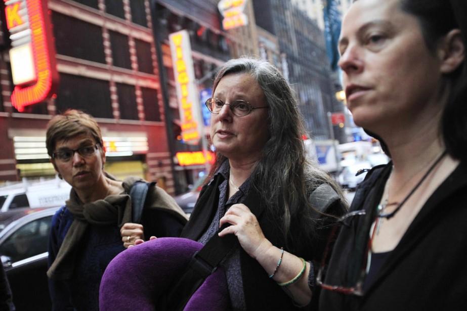 Les mères de trois randonneurs américains, peu avant... (Photo: AP)