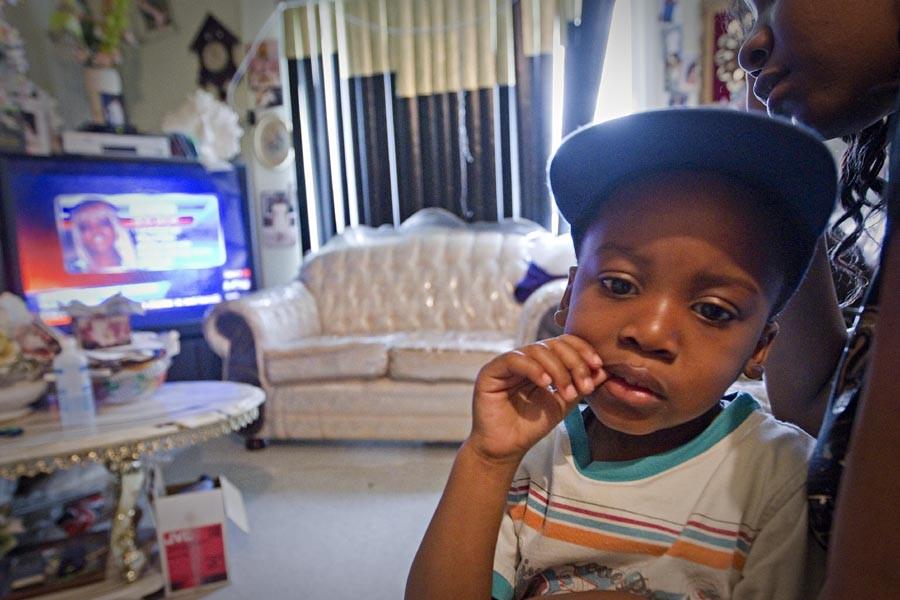 Jay Marion, trois ans, veut revoir sa mère,... (Photo: Patrick Sanfaçon, La Presse)