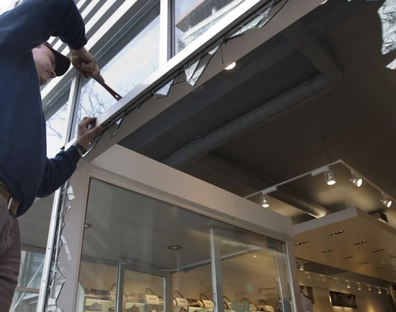 Les commerçants de la rue Sainte-Catherine devront-ils doter... (PHOTO: PATRICK SANFAÇON, ARCHIVES LA PRESSE)