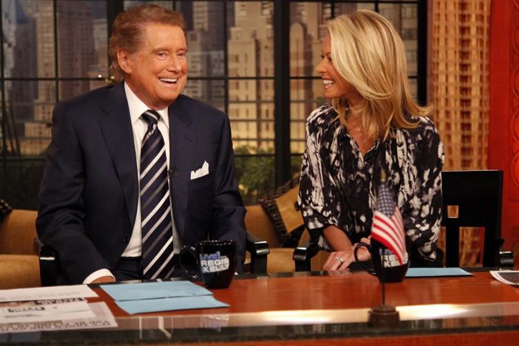 Les animateurs de l'émission américaine Live! With Regis... (Photo: AP)