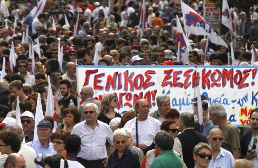 Des manifestations ont eu lieu à Athènes à... (Photo AP)