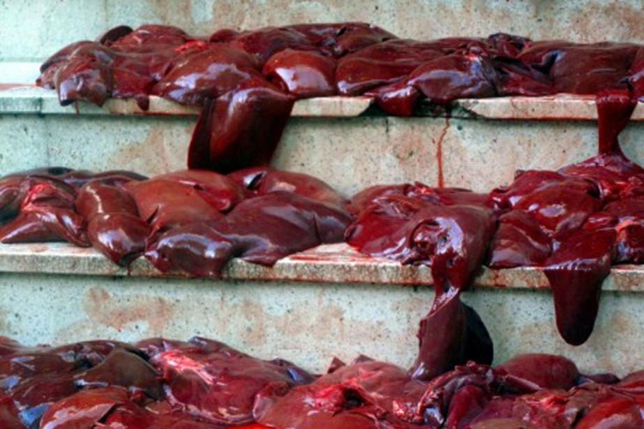 260 foies de porc ont été déposés, jeudi... (Photo: Rue 89.fr)