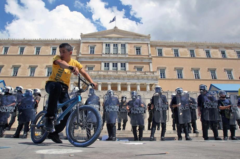 Avec quelque 1 700 policiers déployés dans le... (Photo: AP)