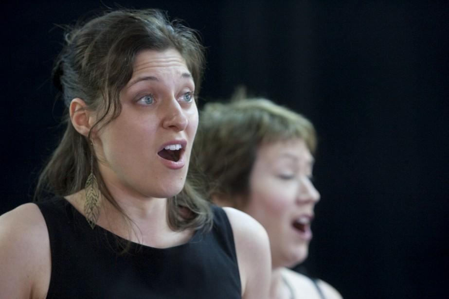 La soprano Stéphanie Lessard et la mezzo Johanne... (Photo: Martin Tremblay, La Presse)
