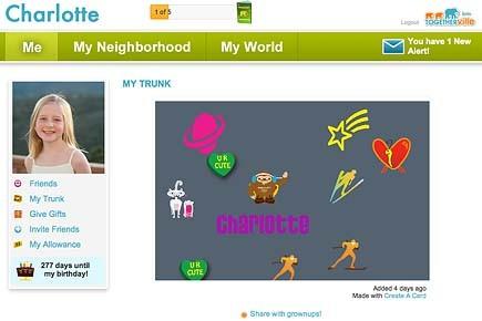 Les enfants peuvent interagir avec leurs amis, s'amuser... (togetherville.com)