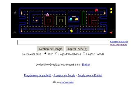 Le moteur de recherche Google offrait vendredi et samedi... (Photo: google.ca)