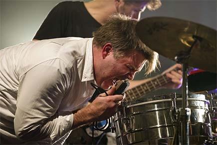 James Murphy et LCD Soundsystem en spectacle.... (Photo: archives AFP)