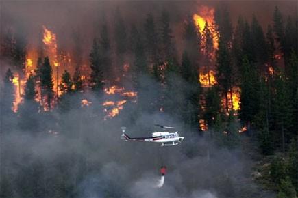 La zone d'interdiction pour allumer des feux à ciel ouvert est en... (Photo: AP)