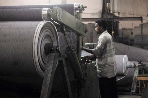 Les grandes filatures pakistanaises se tournant vers l'exportation... (Photo: AFP)