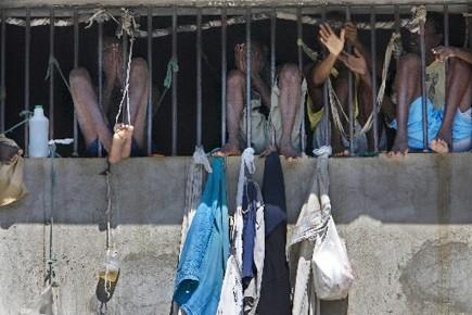 La prison était surpeuplée et les 467 prisonniers... (Photo: Patrick Sanfaçon, archives La Presse)