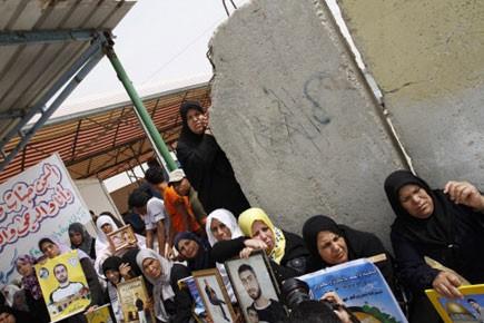 Des femmes palestiniennes participent à une manifestation demandant... (Photo AFP)