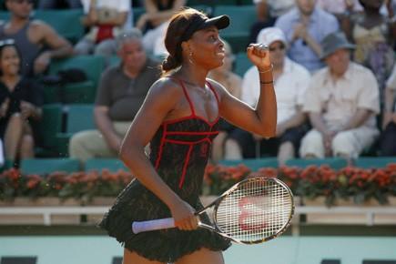Venus Williams savoure sa première victoire.... (Photo AFP)