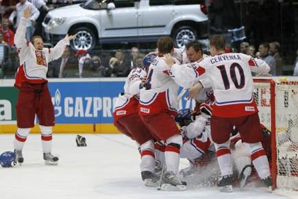 La République tchèque a surpris la Russie, championne... (Photo: Petr Josek, Reuters)