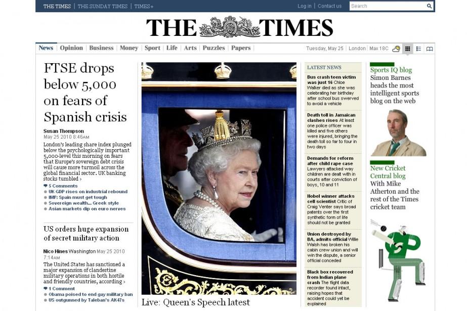 Le Times de Londres en ligne...