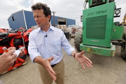 Tony Hayward, PDG de BP.... (Photo AP)