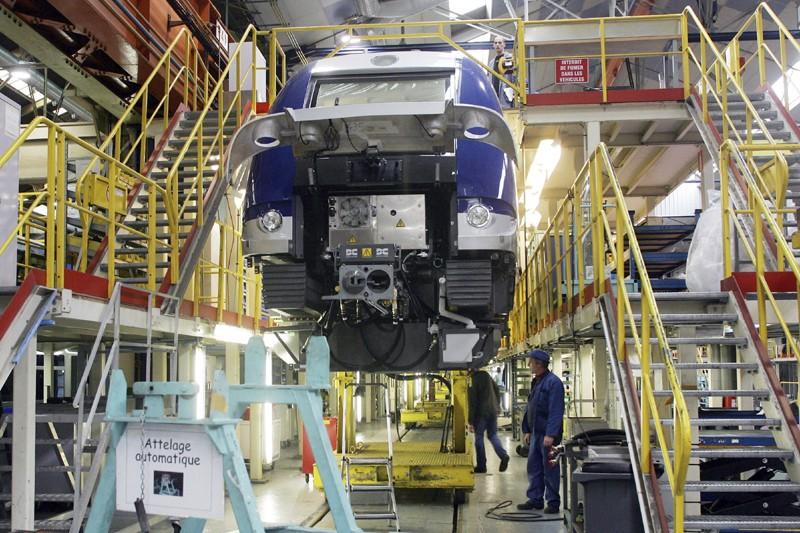 Une usine de Bombardier à Crespin, en France.... (Photo AFP)