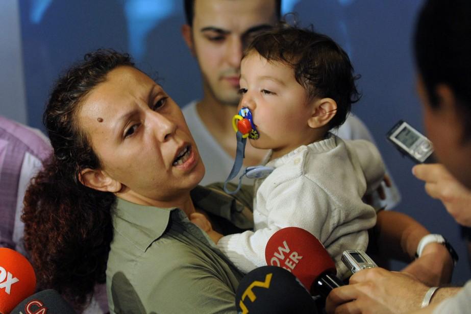 Nilüfer Çetin s'est réfugiée dans sa cabine avec... (Photo: AP)