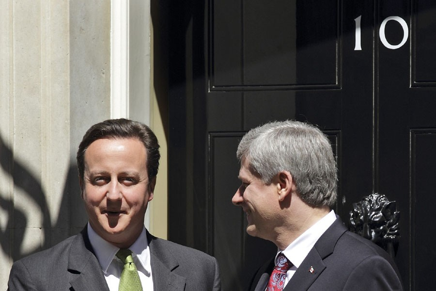 Stephen Harper est le premier dirigeant étranger à... (Photo: AP)