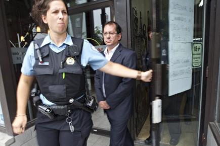 Marc-Boris St-Maurice a été arrêté lors d'une perquisition... (Photo Patrick Sanfaçon, La Presse)