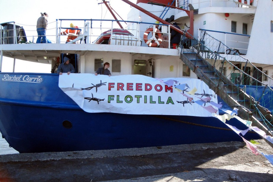 Le Rachel Corrie transporte à son bord 15... (Photo: archives AFP)