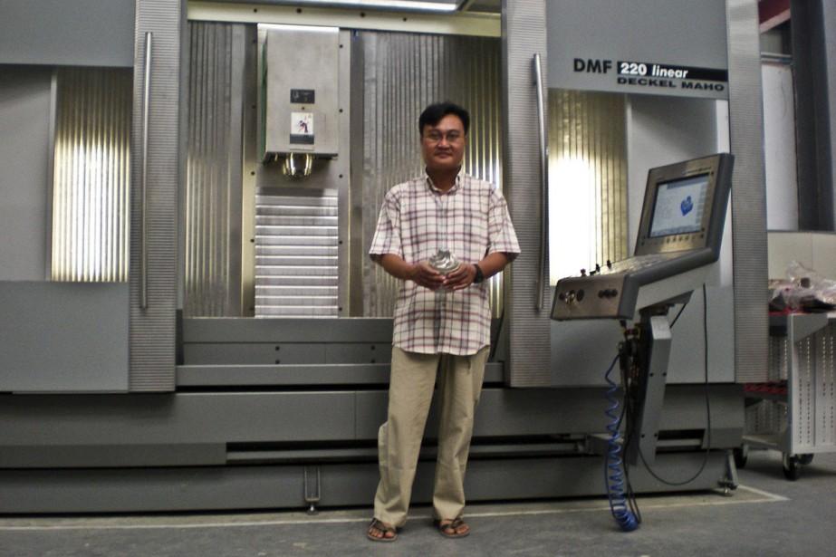Le transfuge, Sai Thein Win, photographié ci-dessus devant... (Photo: AP)