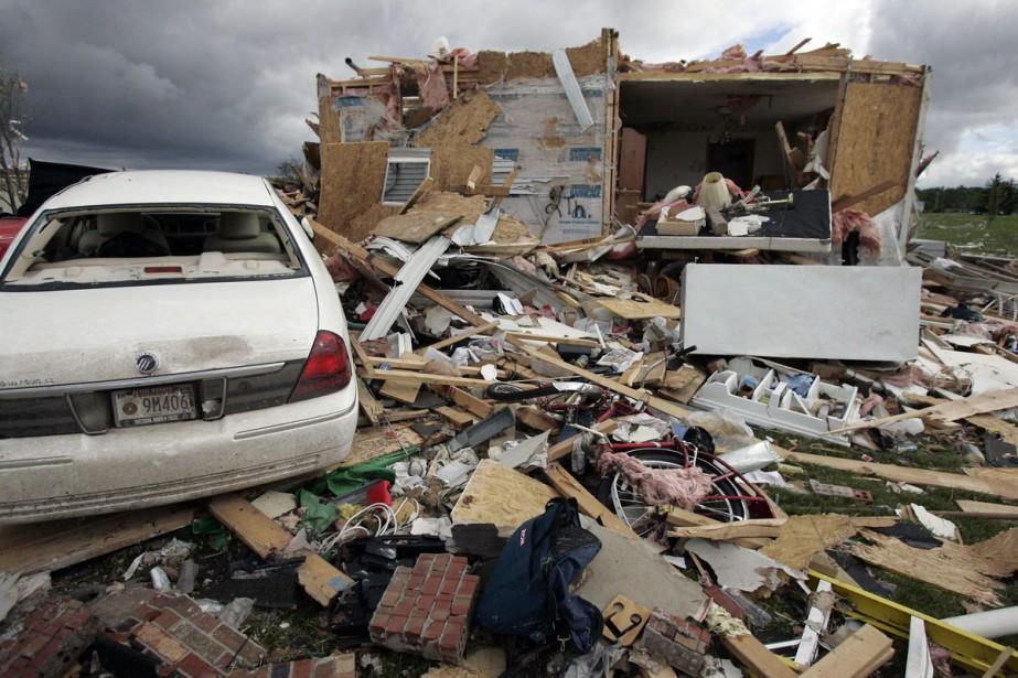 La a provoqué des dégâts sur quelque 13... (Photo: AP)