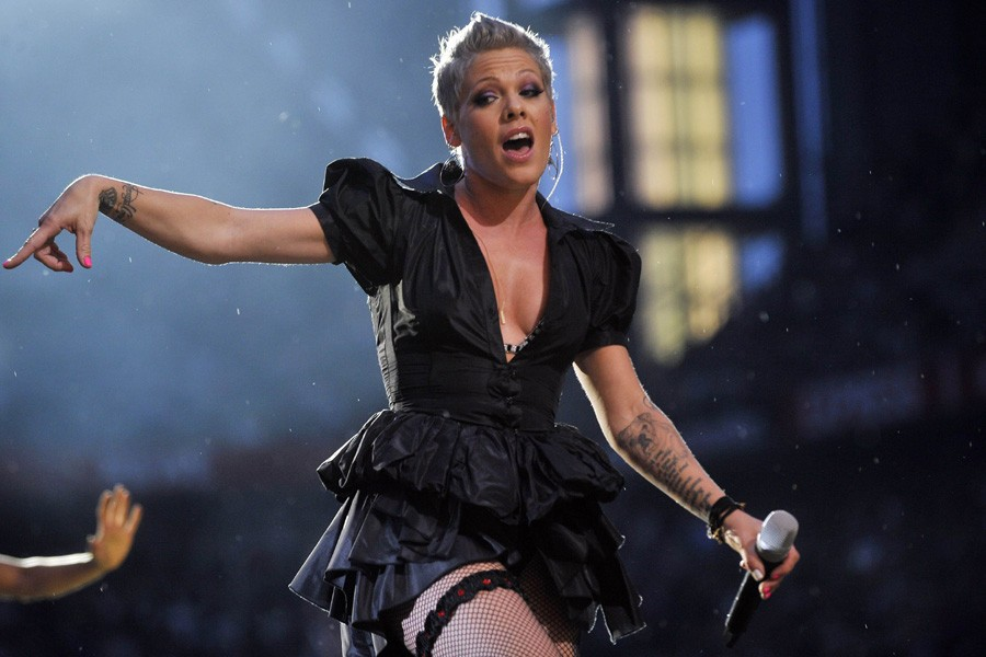 Pink aura droit à une scène remplie de... (Photo: AFP)