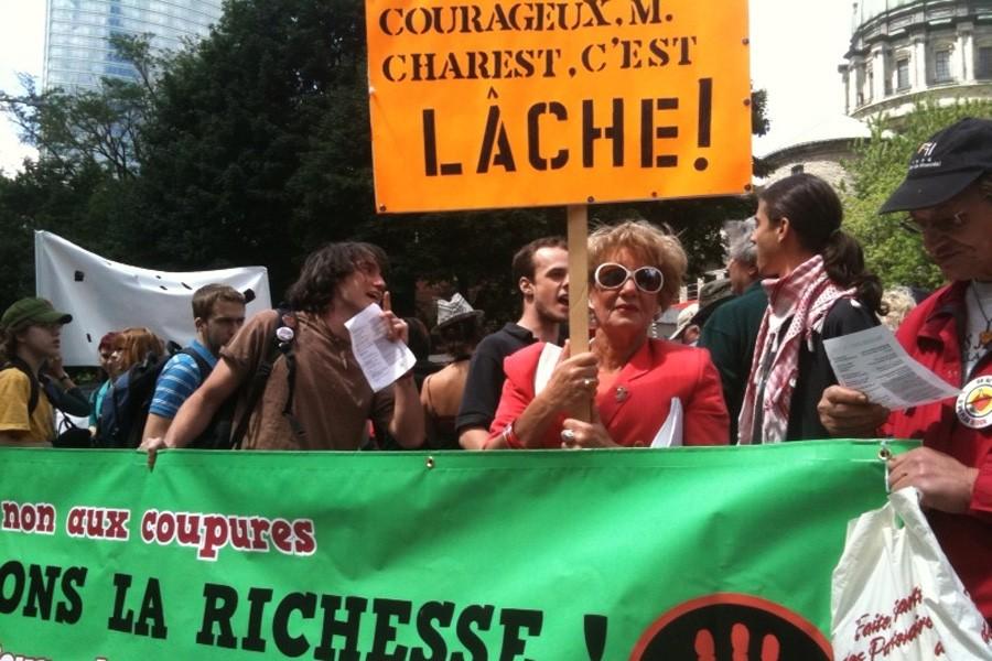 Les militants veulent notamment lancer un message au... (Photo: Alain Roberge, La Presse)