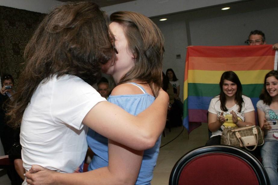 Helena Paixao et Teresa Pires se sont marées... (Photo: Reuters)