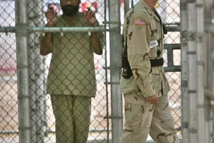 La prison de Guantanamo, en 2006.... (Photo AFP)